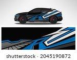 wrap car vector design decal.... | Shutterstock .eps vector #2045190872