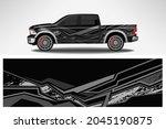 wrap car vector design decal.... | Shutterstock .eps vector #2045190875