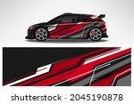 wrap car vector design decal.... | Shutterstock .eps vector #2045190878