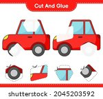 cut and glue  cut parts of car... | Shutterstock .eps vector #2045203592