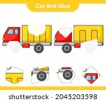 cut and glue  cut parts of... | Shutterstock .eps vector #2045203598