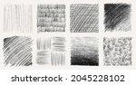sketch pencil texture set. pen... | Shutterstock .eps vector #2045228102