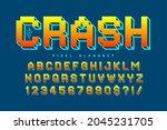 pixel vector alphabet design ... | Shutterstock .eps vector #2045231705