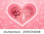 love and valentine day  lovers... | Shutterstock .eps vector #2045243048