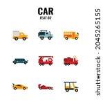 cars icon set on white... | Shutterstock .eps vector #2045265155