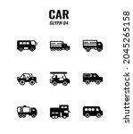 cars icon set on white... | Shutterstock .eps vector #2045265158
