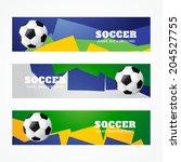 set of football headers design | Shutterstock .eps vector #204527755