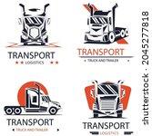 transport logo design pack... | Shutterstock .eps vector #2045277818