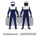 racing driver uniform template... | Shutterstock .eps vector #2045298128
