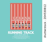 Top View Running Track Vector...