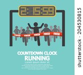 countdown clock at finish line... | Shutterstock .eps vector #204530815