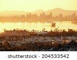 San Diego Downtown Skyline At...
