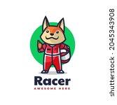 vector logo illustration fox... | Shutterstock .eps vector #2045343908
