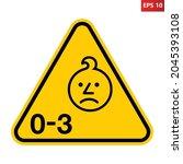 age warning symbol. vector... | Shutterstock .eps vector #2045393108