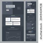 website template design dark...