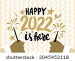 happy new year 2022...   Shutterstock .eps vector #2045452118