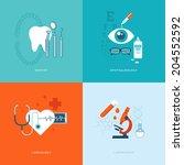set of flat design concept... | Shutterstock .eps vector #204552592