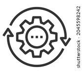 progress line icon logo vector .... | Shutterstock .eps vector #2045598242