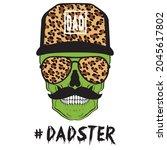 daddy monster halloween... | Shutterstock .eps vector #2045617802