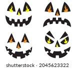 jack o lantern fire funny face | Shutterstock .eps vector #2045623322