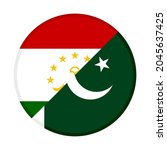 round icon with tajikistan and... | Shutterstock .eps vector #2045637425