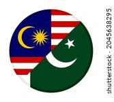 round icon with malaysia and... | Shutterstock .eps vector #2045638295