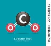 carbon dioxide formula ... | Shutterstock .eps vector #2045638652