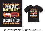 tshirt print with firefighters... | Shutterstock .eps vector #2045642738
