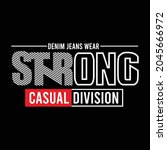 strong casual division design... | Shutterstock .eps vector #2045666972
