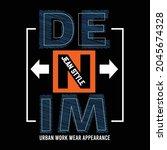 denim jean style design... | Shutterstock .eps vector #2045674328