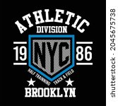 athletic division design... | Shutterstock .eps vector #2045675738