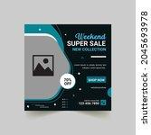 modern promotion square web...   Shutterstock .eps vector #2045693978