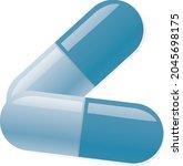 blue pills medical vector art...   Shutterstock .eps vector #2045698175