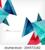 3d geometric shape abstract... | Shutterstock . vector #204572182