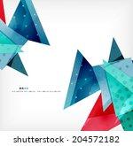 3d geometric shape abstract... | Shutterstock . vector #204572182