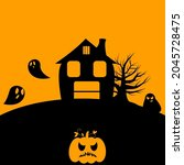 halloween party invitations or...   Shutterstock .eps vector #2045728475