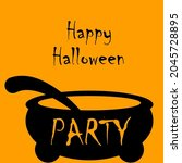 halloween party invitations or...   Shutterstock .eps vector #2045728895