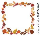 autumn design frame from autumn ...   Shutterstock .eps vector #2045743445