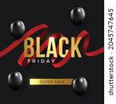 black friday sale background....   Shutterstock .eps vector #2045747645