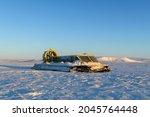 Hovercraft In Winter Tundra....