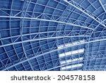 large steel structure truss ... | Shutterstock . vector #204578158