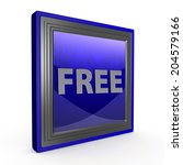free square icon on white... | Shutterstock . vector #204579166
