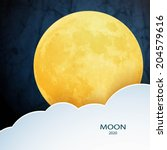 moon  clouds. sweet dreams... | Shutterstock .eps vector #204579616