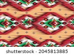 ikat geometric folklore...   Shutterstock .eps vector #2045813885
