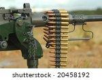 ammunition rib on a Anti-Aircraft Machine Gun