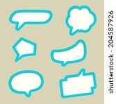 vector illustration of various... | Shutterstock .eps vector #204587926