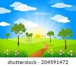 sun rays showing country... | Shutterstock . vector #204591472