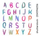 felt tip pen overlay font   Shutterstock .eps vector #204596056