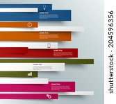 info graphic colored striped... | Shutterstock .eps vector #204596356