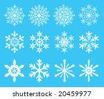 snowflakes   symbol designs for ... | Shutterstock .eps vector #20459977